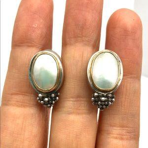 🐚 Michael Dawkins pearl + sterling earrings 🐚